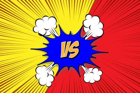 Versus. vs. Fight backgrounds comics style design. Vector illustration. Illustration