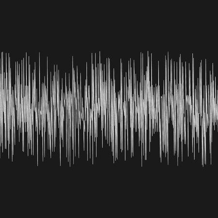 seismic waves oscillation earthquake waveform with random frequency and amplitude