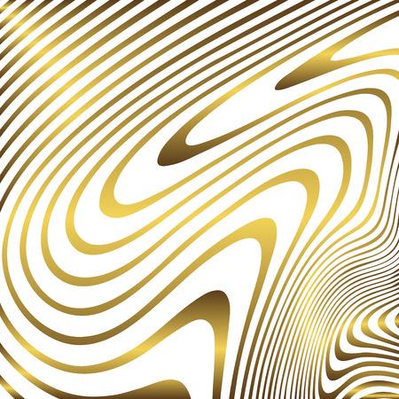 Goldener Marmorhintergrund. goldene Zebratextur. Vektorgrafik
