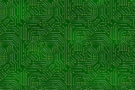 Computer motherboard background with circuit board electronic elements. Chip electronic pattern for computer technology