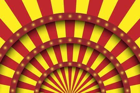 Abstract festive background. Circus stage white lines and spotlights.
