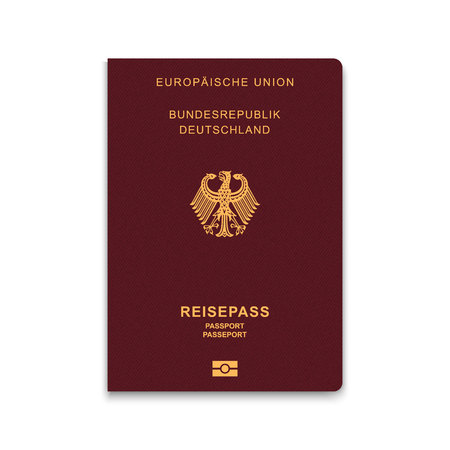 Passport of Germany. Vector illustration Иллюстрация