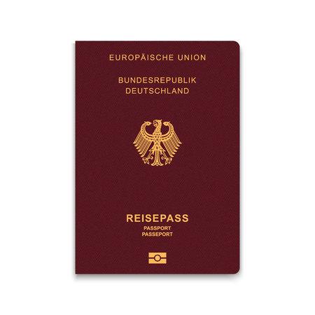 Passport of Germany. Vector illustration Illustration