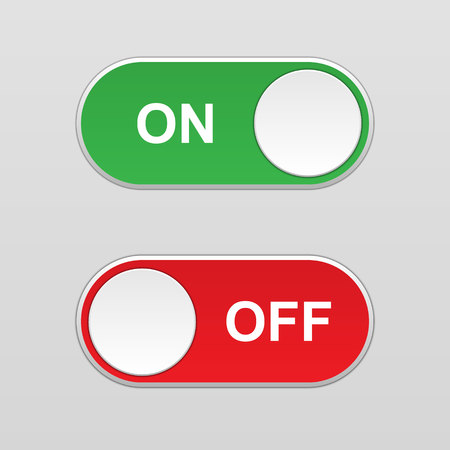 On and Off Toggle switch button