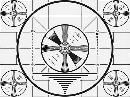 Ilustración de vector de patrón de prueba de televisión retro. Ilustración de vector