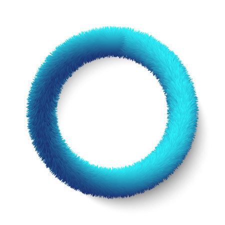 3d realistic blue Fluffy  Hair ring