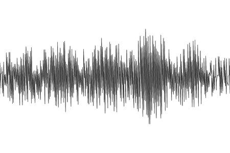 Oscillazione delle onde sismiche forma d'onda del terremoto con frequenza e ampiezza casuale Vettoriali