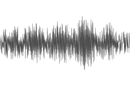 Seismic waves oscillation earthquake waveform with random frequency and amplitude