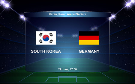 South Korea vs Germany football scoreboard broadcast graphic soccer template