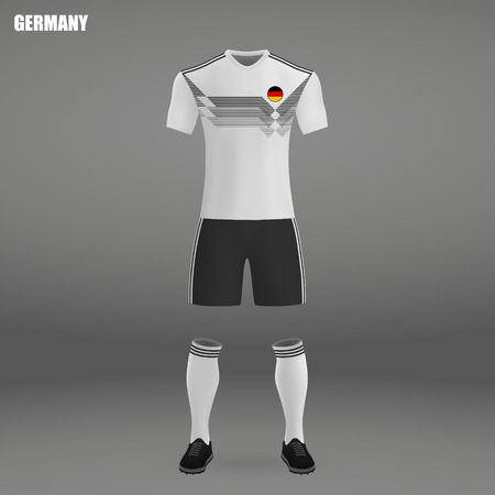 football kit of Germany 2018, t-shirt template for soccer jersey. Vector illustration Illustration