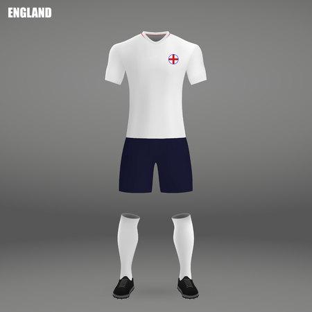 football kit of Belgium 2018, t-shirt template for soccer jersey. Vector illustration