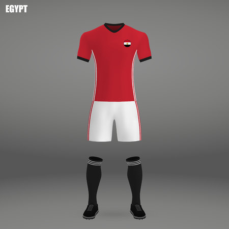 cheap for discount df275 01f75 football kit of Egypt 2018, t-shirt template for soccer jersey...