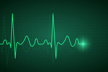 Healthcare medical background with ecg heart pulse Illustration