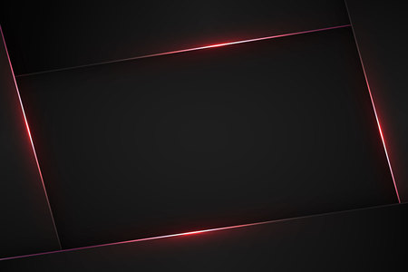 Black modern vector background. Abstract tech design