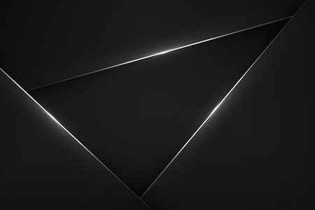 Black modern vector background. Abstract tech design Vectores