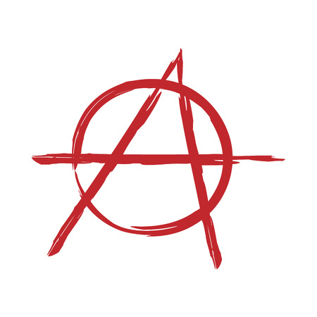Anarchy symbol. Vector sign