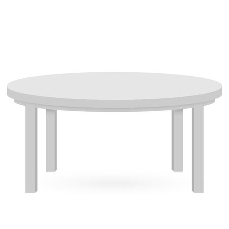 3d Table mockup. Template for Object Presentation.Vector Illustration.