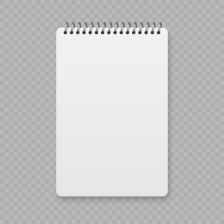 現実的なスパイラルノートブックモックアップ、テンプレートのコピーブックカバー。