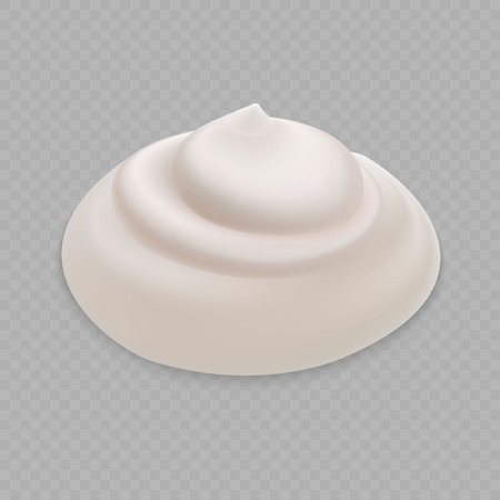 White Cream isolated on transparent background
