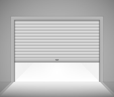 Roller garage door. Vector illustration