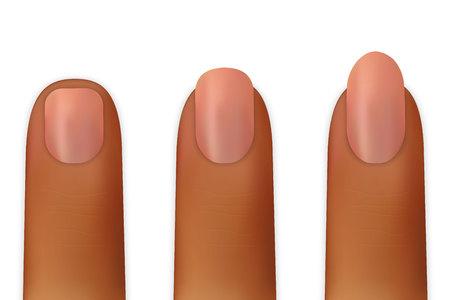 women nails isolated on white background Archivio Fotografico - 103276634