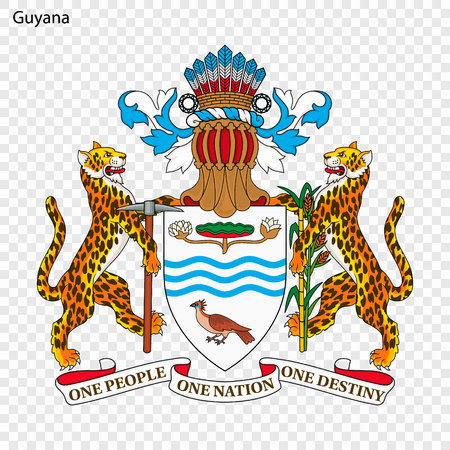 Emblem of Guyana. National Symbol