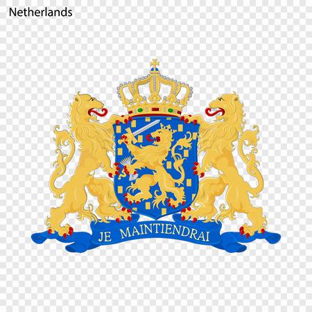 Symbol of Netherlands. National emblem