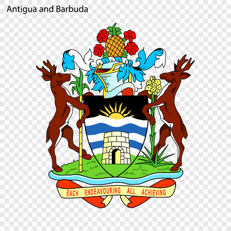 Symbol of Antigua and Barbuda. National emblem