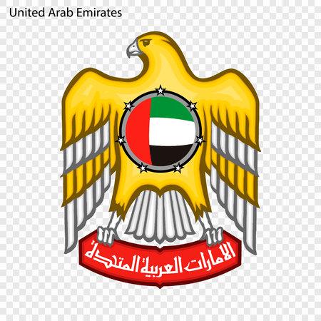 Symbol of United Arab Emirates. National emblem Illustration