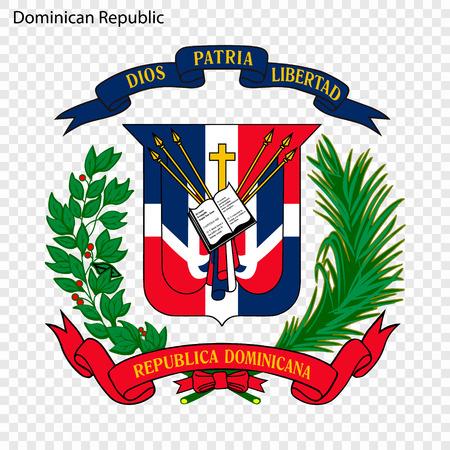 Symbol of Dominican Republic. National emblem