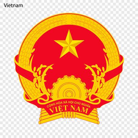 Symbole du Vietnam. emblème national
