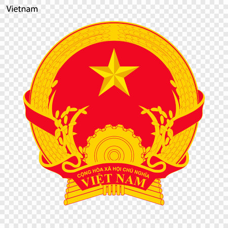 Symbol of Vietnam. National emblem