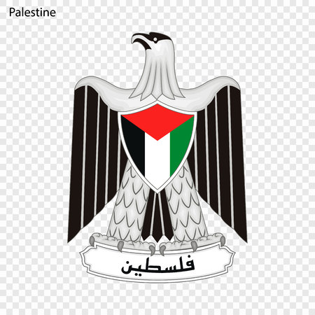 Symbol of Palestine. National emblem