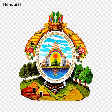 Symbol of Honduras. National emblem