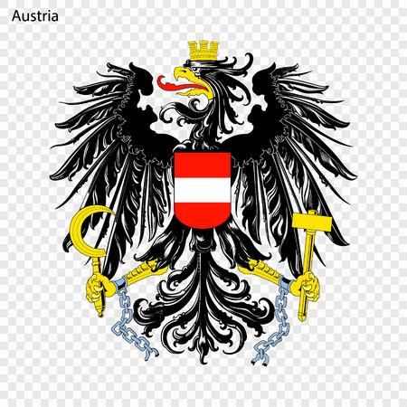 Symbol von Österreich. Staatswappen