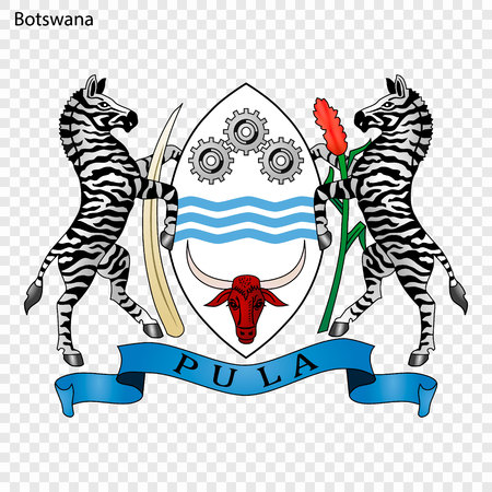 Symbol of Botswana. National emblem