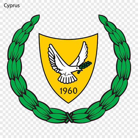 Symbol of Cyprus. National emblem Vettoriali