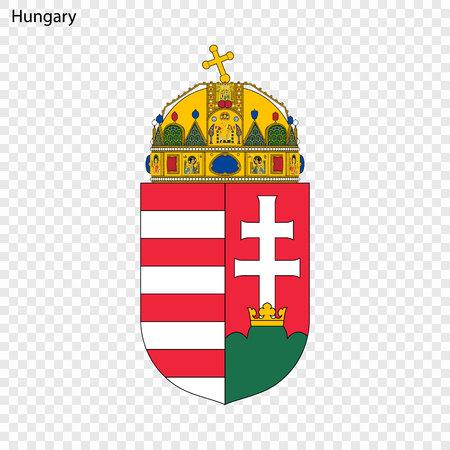 Symbol of Hungary. National emblem