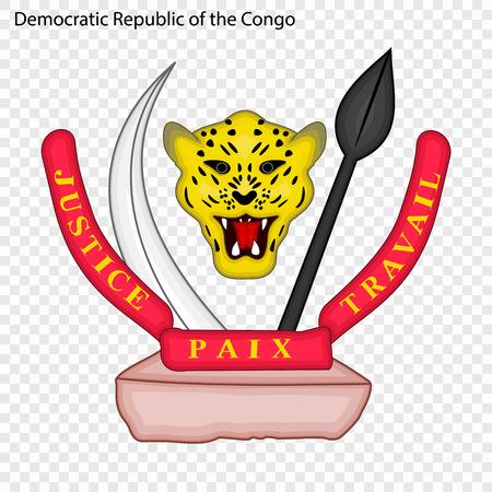 Symbol of Democratic Republic of the Congo. National emblem