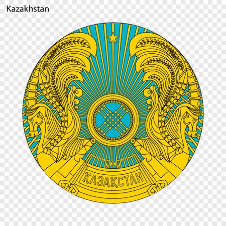 Símbolo de Kazajstán. emblema nacional