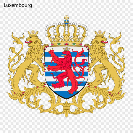 Symbol of Luxembourg. National emblem
