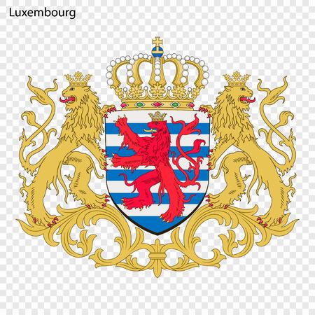 Symbool van Luxemburg. Nationaal embleem