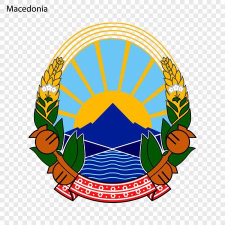 Symbol of Macedonia. National emblem