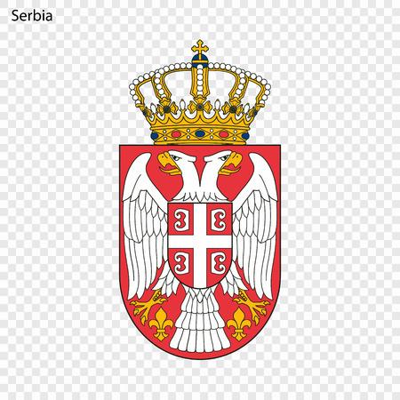 Symbol of Serbia. National emblem