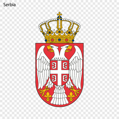 Symbol of Serbia. National emblem