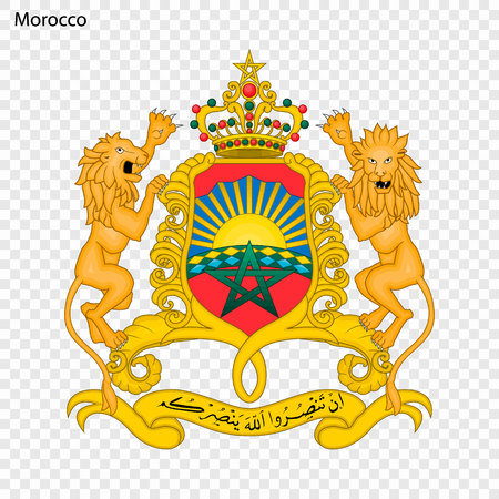Symbol of Morocco. National emblem