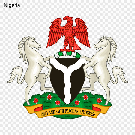 Symbol of Nigeria. National emblem 向量圖像