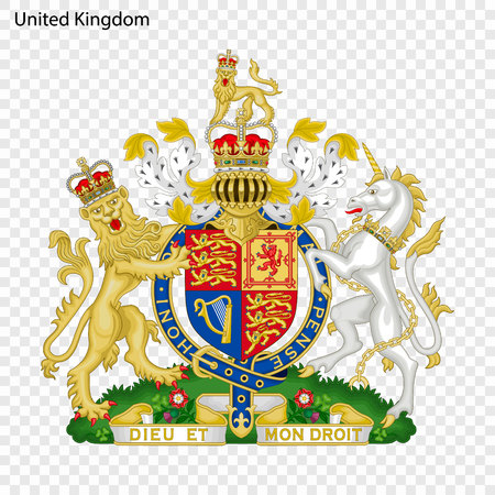 Symbol of United Kingdom. National emblem Vettoriali