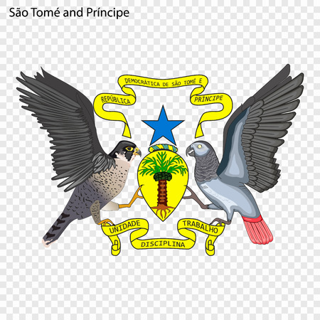 Symbol of Sao Tome and Principe. National emblem 向量圖像