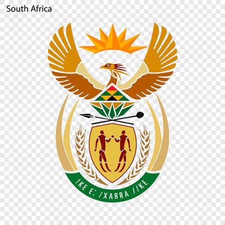 Symbol of South Africa. National emblem Archivio Fotografico - 103777201